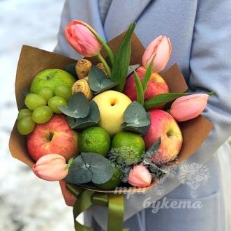 fruktovyj-buket-iz-yablok-i-lajmov